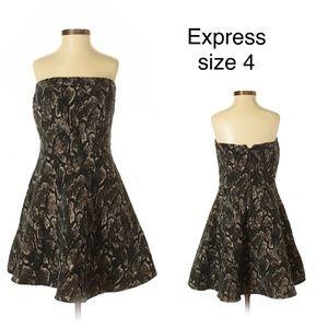 Express Strapless Snakeskin Cocktail Dress sz 4